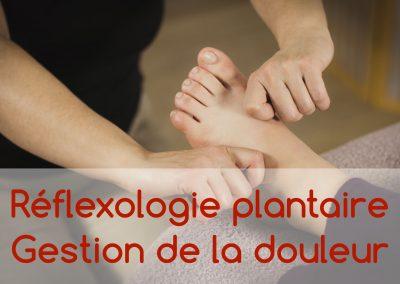 Réflexologie plantaire – Gestion de la douleur
